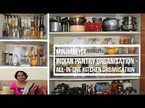 Minimalist Indian Pantry Organisation All In One Kitchen