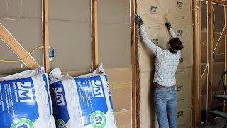 Insulating a Garage, Adding Outlets, and Installing OSB Panels