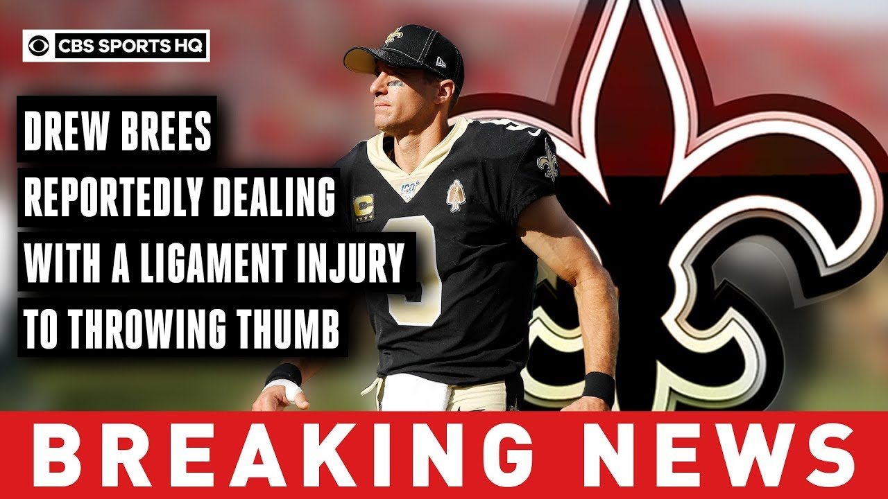 Drew Brees reportedly needs surgery to repair torn ligament in hand, expected to miss six weeks or more