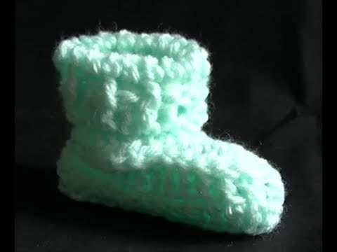 Download How to Crochet a Baby Bootie Part 2 of 2 - Cats One Piece Wonder Baby Booties