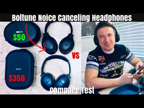 BOSE Quiet comfort 35 ii VS Boltune Noice Canceling Headphones Compare Test Unboxing and Review