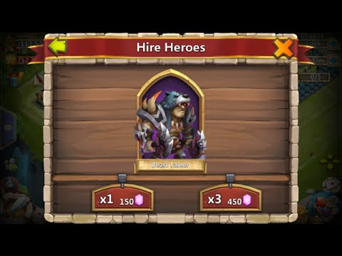 Rolling 24000 Gems For Beast Tamer + Skull Knight Castle Clash