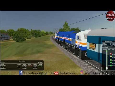 11401/Mumbai CST Nagpur Nandigram Express Part-2 MSTS Open Rails