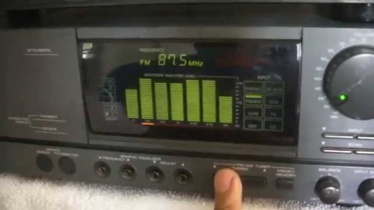 Mitsubishi M-A5360 Power Amplifier / M-PF5350 Stereo Preamplifier - YouTube