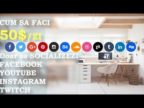 Cum sa faci 50$/zi pe Facebook | YouTube | Instagram | Twitch | Google+