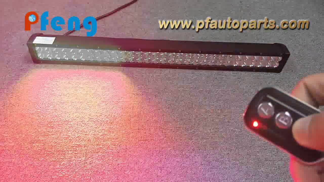 Red blue color strobe led light bar youtube aloadofball Image collections