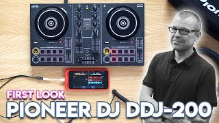 Pioneer DJ DDJ-200 First Look - DJ with Spotify and Beatport Link streaming!