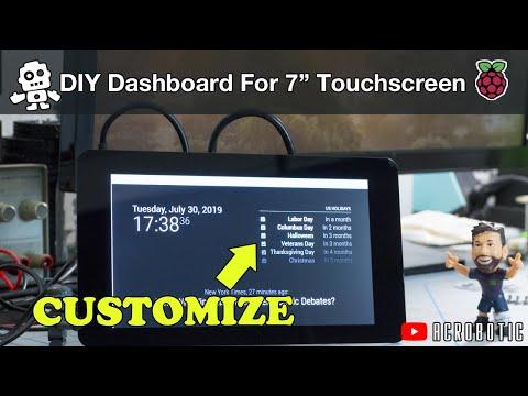 Raspberry Pi 4 Desktop Dashboard On A 7