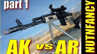 AK-47 Vs AR-15 Part 1 By Nutnfancy [2009]
