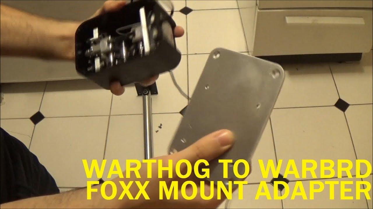 Foxx Mount Thrustmaster Warthog to Virpil VPC WarBRD Base Adapter