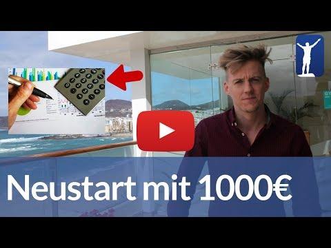 Neustart als Unternehmer mit nur 1.000 €? Was würde ich tun?