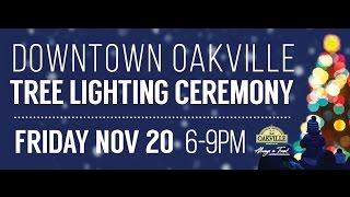 Lighting of the Tree 2015 Downtown Oakville