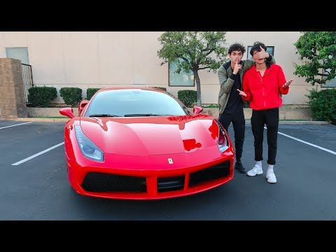 Thumbnail: I BOUGHT MY TWIN A FERRARI !!! (emotional)