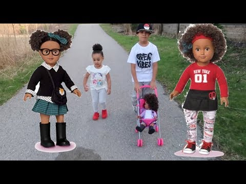 FamousTubeKIDS Take My Life Doll to the Park