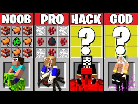 Minecraft Battle: ANIMAL BIKES CRAFTING CHALLENGE ~ NOOB vs PRO vs HACKER vs GOD – Animation