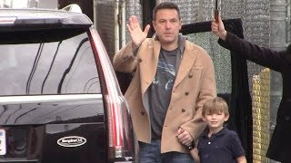 Ben Affleck Blows Fans A Valentine's Day Kiss At The Jimmy Kimmel Show