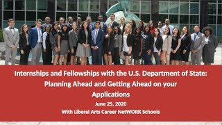 Internships and Fellowship with the U.S. Department of State: Planning Ahead and Getting Ahead