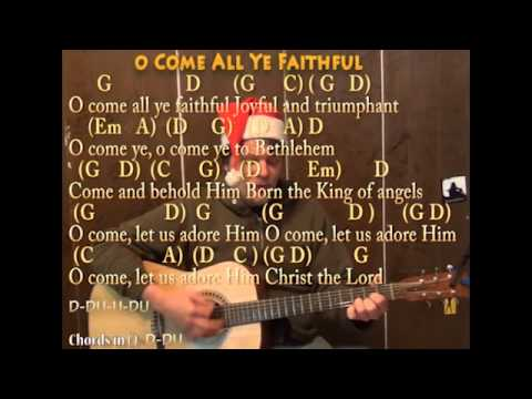 O Come All Ye Faithful (Christmas) Strum Guitar Cover Lesson with ...