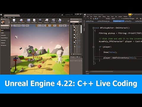 Unreal Engine 4 22 New Features : C++ Live Coding