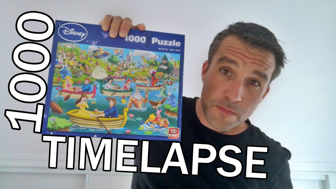 DISNEY PUZZLE 1000 pieces - TIMELAPSE - Fun On The Water