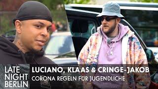 Luciano \u0026 Klaas steuern Cringe-Jakob: Corona Regeln für Jugendliche | Late Night Berlin | ProSieben