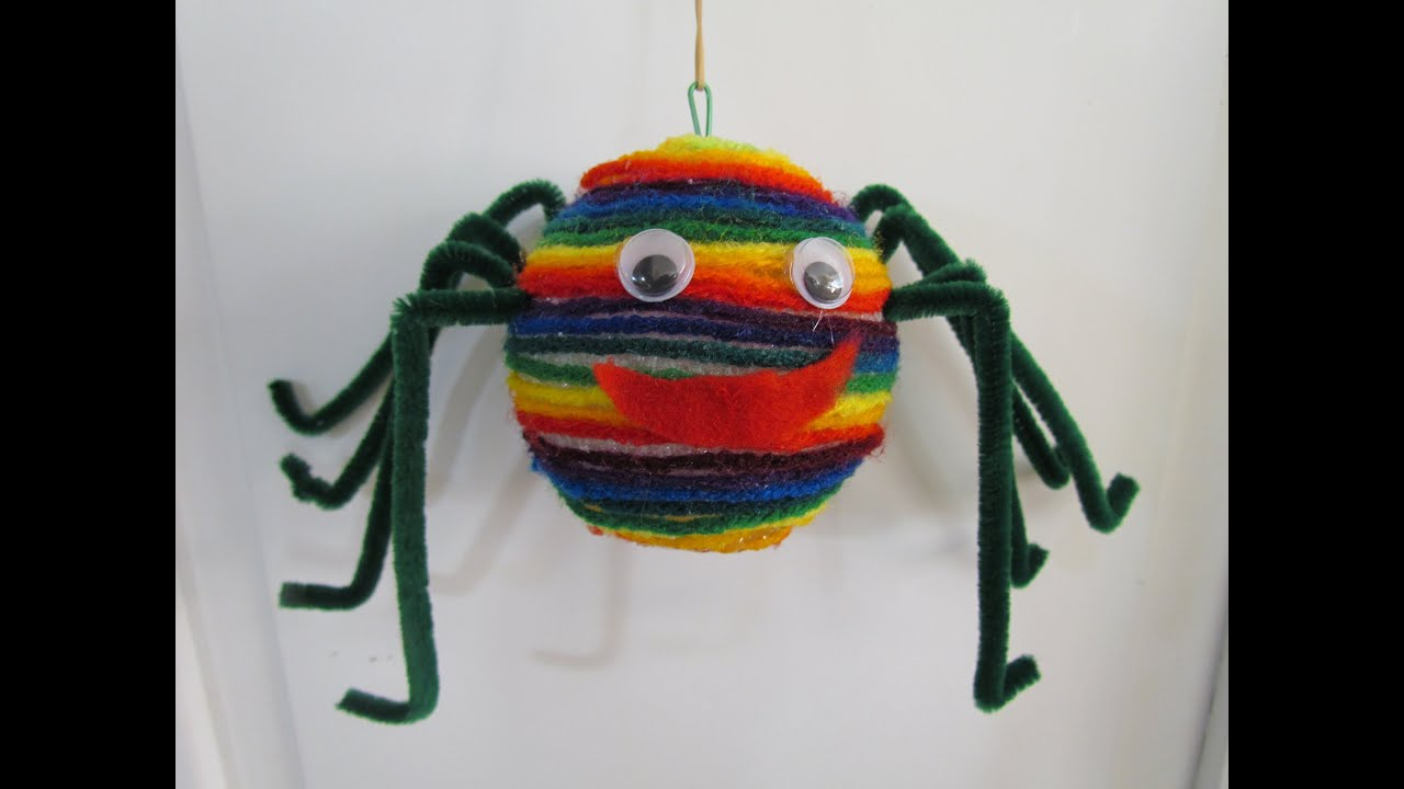 How to make a spider puppet halloween arts craft project for Youtube art and craft