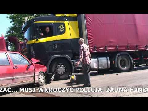 Radny zjebany prze Policjanta po wypadku TIRa