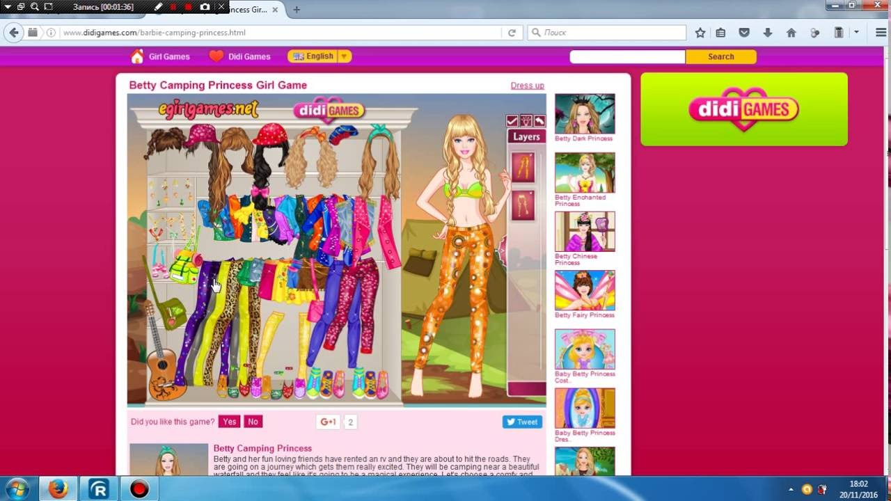 DIDI.games Dress Up Barbie - YouTube