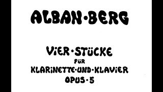 Alban Berg (1885-1935): Vier Stücke op. 5 arr. for Saxophone and Piano