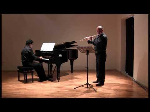 """Richard Rodney Bennett """"Siesta"""" for flute and piano / Angelo Ragno flute"""