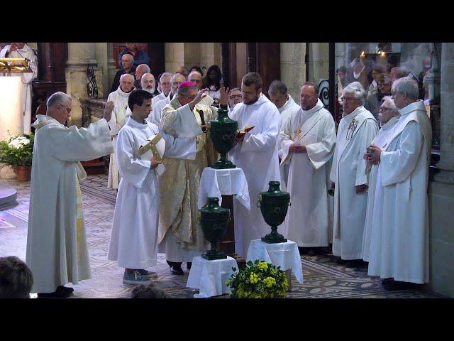 Messe chrismale 2019 , consécration du Saint-Chrême et bénédiction des huiles
