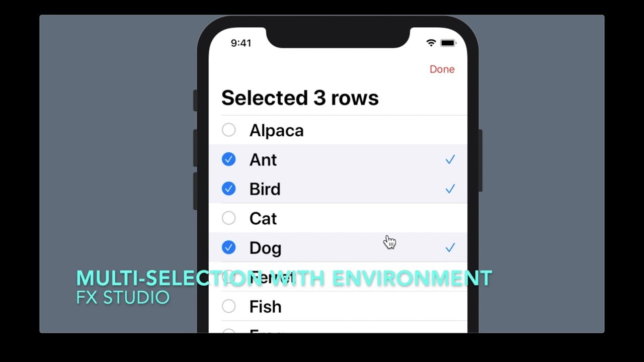 Multiple Selection with edit Environment | SwiftUI | Working with List