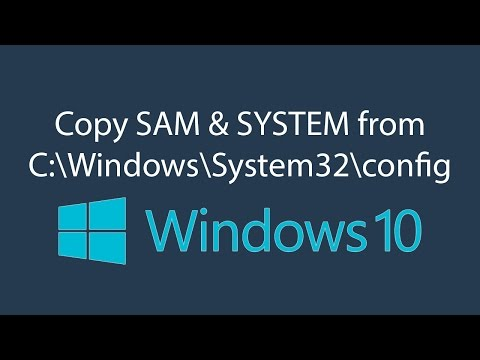 How to copy SAM file and SYSTEM file with CMD - YouTube