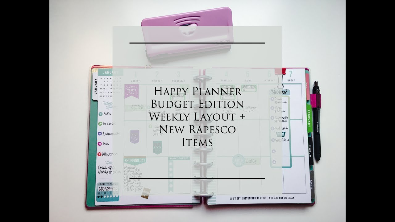 how i m using the weekly layout in my happy planner budget edition