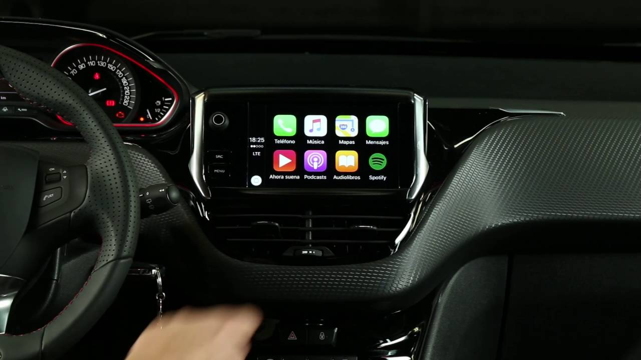 Peugeot 208 Central Multimedia Apple Play Car Youtube