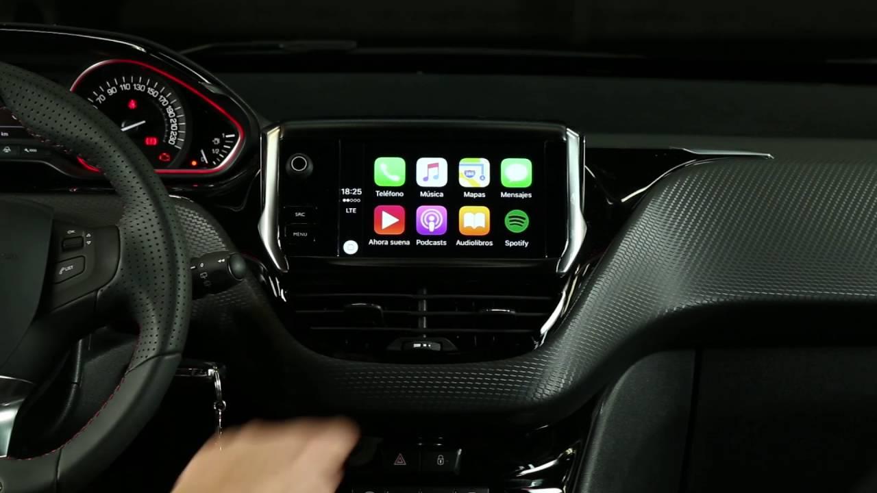 peugeot 208 central multimedia apple play car youtube. Black Bedroom Furniture Sets. Home Design Ideas