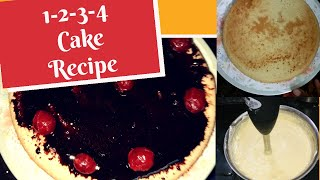 1-2-3-4 Cake recipe  Simple Spongy Cake recipe without oven in Tamil  Lockdown recipe