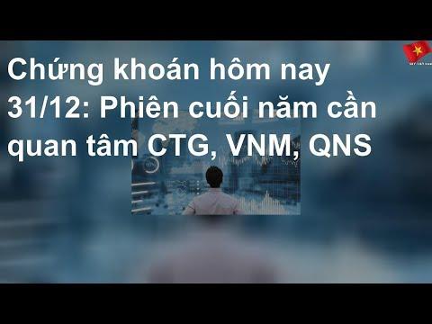 Chứng Khoán Hôm Nay 31/12: Phiên Cuối Năm Cần Quan Tâm CTG, VNM, QNS