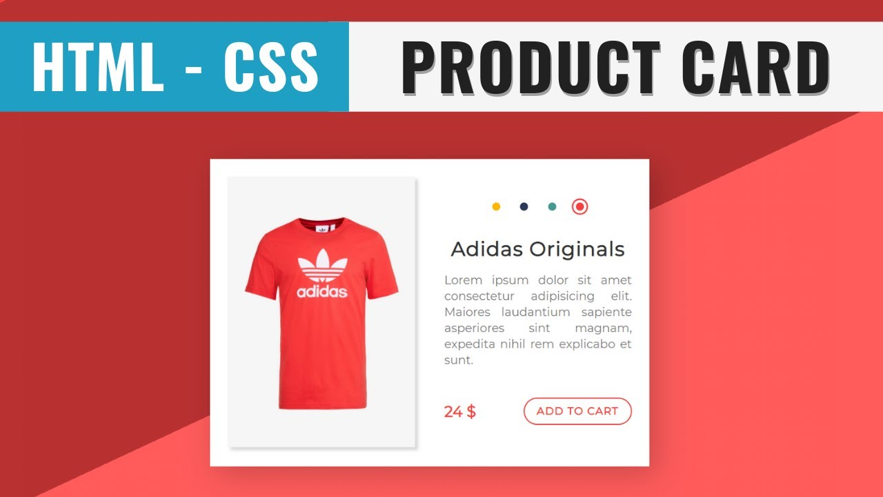 Product Card Design using HTML and CSS