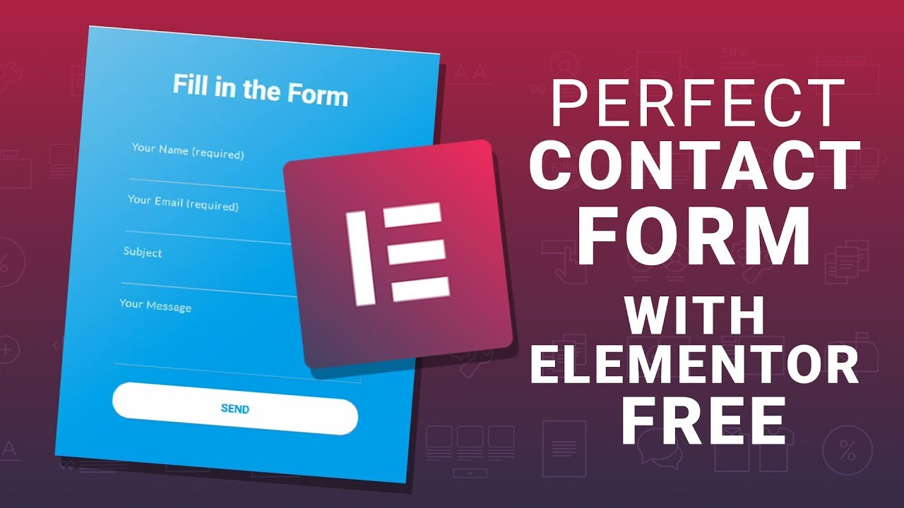 How to Customize Contact Form 7 with Elementor? Style contact form  Elementor free and JetElements
