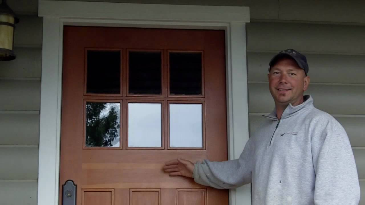 Door Refinishing   Douglas Fir Exterior Door   YouTube
