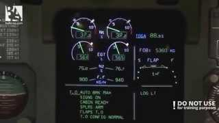 Engine thrust indication on ECAM (A320)