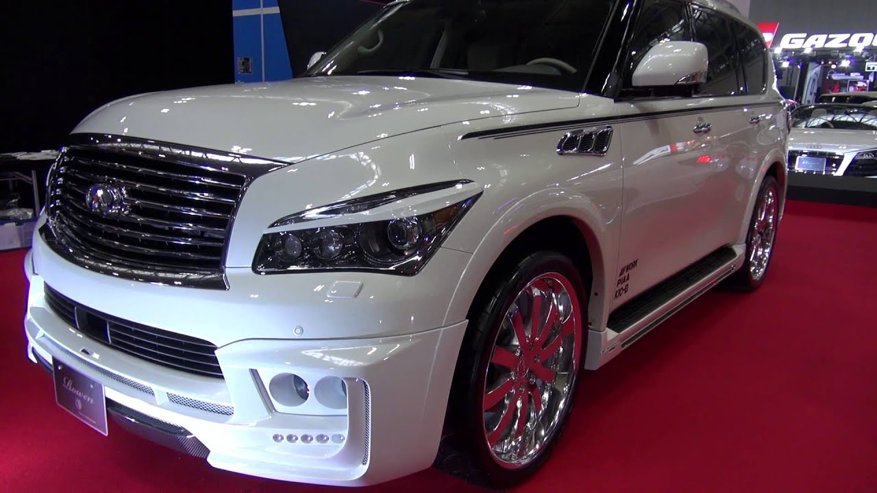 Infiniti Q50 Tires >> Nissan infiniti qx56 / 日産インフィニティ qx56 名古屋オートトレンド2013 - YouTube