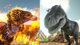 フェニックスがティラノサウルスを焼き尽くす!- ARK Scorched Earth ゆっくり実況 #20