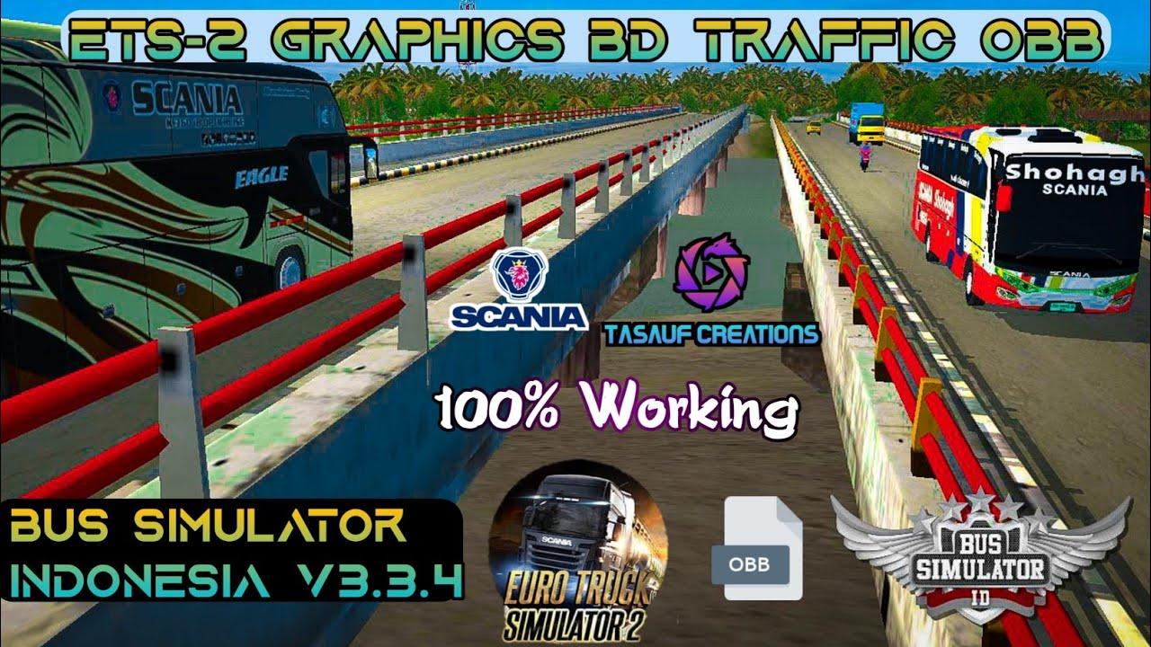 Bussid V3 3 4 Bd Traffic Mod Obb Ets 2 Graphics Bus Simulator Indonesia Bangla Tutorial Youtube