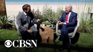 Biden says the