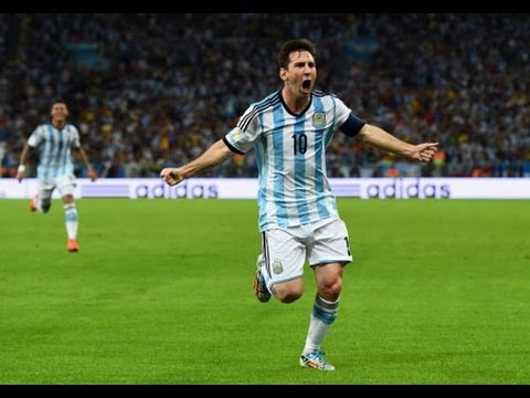 Argentina v. Iran Messi game winning goal World Cup 2014