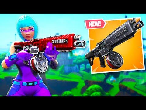 *NEW* DRUM SHOTGUN in Fortnite! (GAMEPLAY)