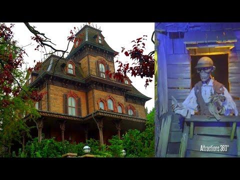 [4K] Phantom Manor Ride - Disneyland Paris version of Haunted Mansion Ride