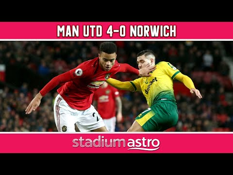 Manchester United 4 - 0 Norwich City   EPL Highlights   Astro Supersport
